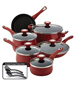Farberware® New Traditions 14-pc. Red Speckled Aluminum Nonstick Cookware Set