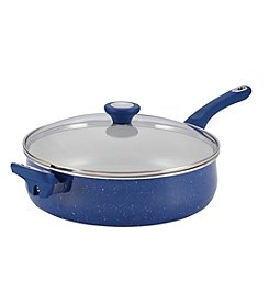 Farberware® New Traditions 5-qt. Blue Speckled Aluminum Nonstick Jumbo Cooker with Helper Handle