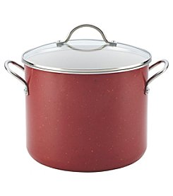 Farberware® New Traditions 12-qt. Red Speckled Aluminum Nonstick Covered Stockpot