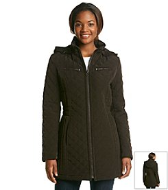 Laundry by Design Three Quarter Quilted Jacket With Inset Waist