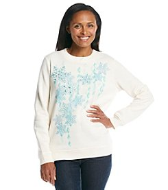 Breckenridge® Embroidered Sweatshirt - Snowflake Sparkle