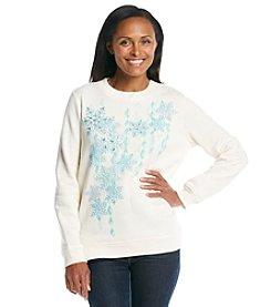 Breckenridge® Embroidered Sweatshirt - Snowflake Sparkle