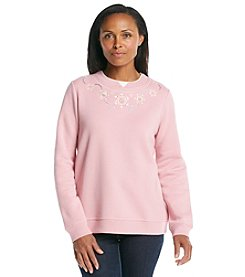 Breckenridge® Embroidered Fleece Crew - Ice Necklace