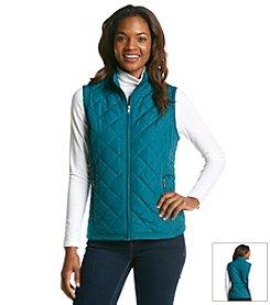 Relativity® Petites' Quilted Zip Front Vest
