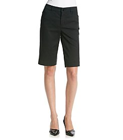 Jones New York Signature® Solid Trouser Shorts