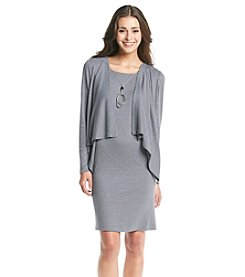 Jessica Howard® Petites'  Rib Knit Jacket Dress