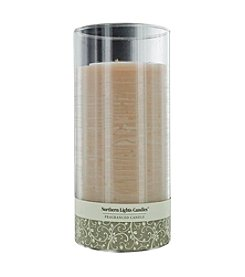Northern Lights Candles Sandstone Scented Glass Pillar Scented Candle