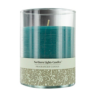 Northern Lights Candles Ocean Breeze Glass Pillar Scented Candle