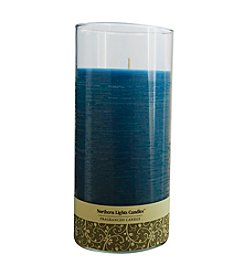 Northern Lights Candles Fresh Linen Scented Glass Pillar Candle With Lid