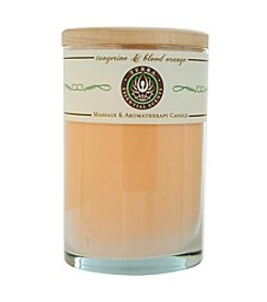 Terra Essential Scents® Tangerine and Blood Orange Massage and Aromatherapy Soy Candle Tumbler