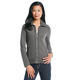 Studio Works® Petites' Zip Front Brushed Knit Jacket