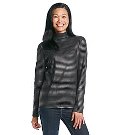 Studio Works® Foil Stripe Mock Neck
