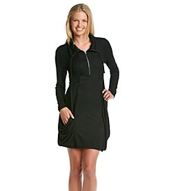 Kensie® French Terry Dress With Slouchy Pockets