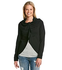 Kensie® Snap Front Open Ponte Jacket