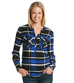 Kensie® Yarn Dye Plaid Shirt