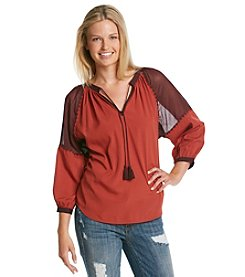 Hippie Laundry Colorblock Long Sleeve Peasant
