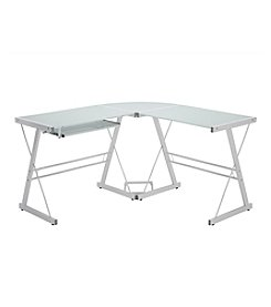 W. Designs White Corner Computer Desk