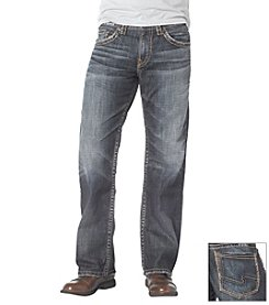 Silver Jeans Co. Men's Medium Wash Gordie Relaxed Fit Jeans