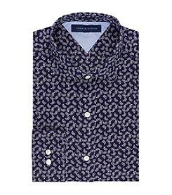 Tommy Hilfiger® Men's Navy Regular Fit Dress Shirt