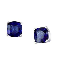 Effy® 2.28 ct. t.w. Manufactured Diffused Sapphire Earrings in 14K White Gold