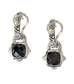 Effy® Balissima Onyx Drop Earrings in Sterling Silver/18K Gold