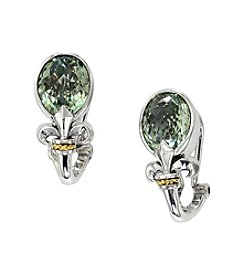 Effy® Balissima Green Amethyst Earrings in Sterling Silver/18K Gold