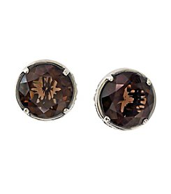 Effy® Balissima Round Smoky Quartz Earrings in Sterling Silver
