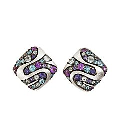 Effy® Multi Gem Omega-Back Earrings in Sterling Silver