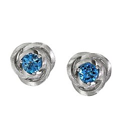 Effy® Balissima Blue Topaz Love Knot Earrings in Sterling Silver