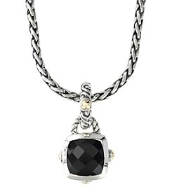 Effy® Balissima Onyx Pendant Necklace in Sterling Silver/18K Gold