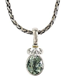 Effy® Balissima Green Amethyst Pendant Necklace in Sterling Silver/18K Gold