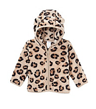 Cuddle Bear® Baby Girls' Leopard Print Teddy Fleece Jacket