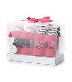 Cuddle Bear® Baby Girls' 4-pk. Socks