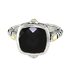Effy® Balissima Onyx Ring in Sterling Silver/18K Gold
