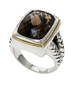 Effy® Balissima Smoky Quartz Ring in Sterling Silver/18K Gold