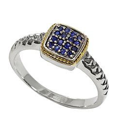 Effy® Balissima Sapphire Ring in Sterling Silver/18K Gold