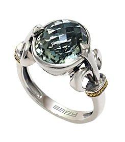 Effy® Balissima Green Amethyst Ring in Sterling Silver/18K Gold
