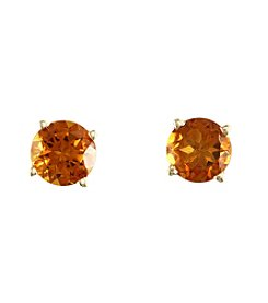Effy® Round Citrine Stud Earrings in 14K Yellow Gold