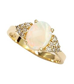 Effy® Opal & Diamond Ring in 14K Gold
