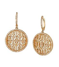 Effy® 1.35 ct. t.w. Diamond Drop Earrings in 14K Yellow Gold