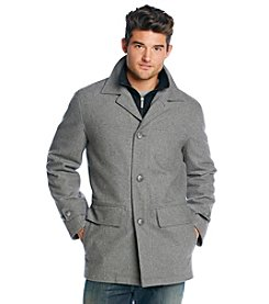 London Fog® Men's Wool Car Coat With Bib