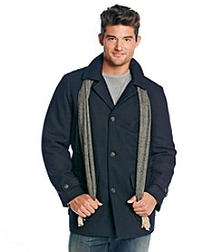 London Fog® Men's Navy Wool Walking Coat