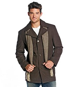 London Fog® Men's Brown Wool Walking Coat