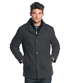 Nautica® Men's Wool Herringbone Carcoat