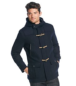 Nautica® Men's Wool Hooded Toggle Coat