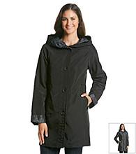 Jones New York® Reversible Leopard Swing Raincoat
