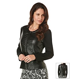 Rafaella® Petites' Quilted Button Front Jacket