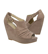 "Fergalicious® ""Sinclair"" Peep-toe Wedge Shoes"