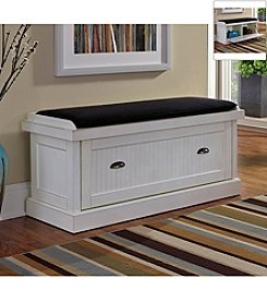 Home Styles® Nantucket Distressed Upholstered Bench