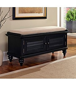 Home Styles® Bermuda Black Upholstered Bench